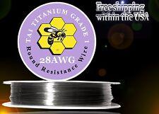 28ga 25ft Titanium Resistance Wire (Gr.1 99.5%) Heats 3x Faster/Lasts 2x Longer