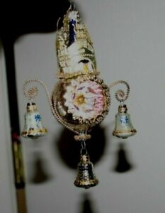 Antique looking CATHEDRAL glass ornament Dresden Germany tinsel castle church