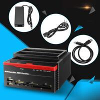 """Externe 2.5 """" &3.5 Duale SATA Ide HDD Docking Station Klon Festplatte Karte"""