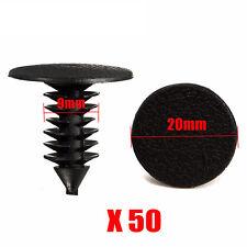 50PCS 9mm Hole Plastic Push Screw Rivet Panel Fastener Clip For Car Auto Vehicle