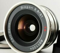 MINT!!  Contax Carl Zeiss Biogon T* 21mm F2.8 Lens for G2 or Green Label G1
