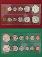 1977 P D Mint Set In Snap Tight Display Cases Uncirculated Combined Shipping