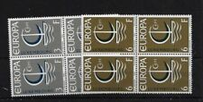 LUXEMBOURG SG783/4, 1966 EUROPA MNH BLOCKS OF FOUR