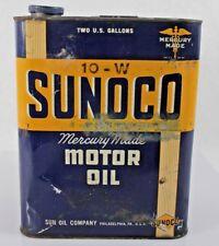 Vintage Sunoco Mercury Made Motor Oil 2 Gallon Can Sun Oil Co