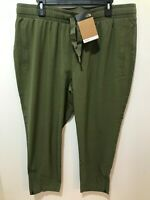 The North Face Womens Olive Green Size XL Woven High-Rise Ankle Pants $80 NWT