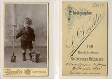 Devolder, Bruxelles, Georges, deux ans Vintage albumen cdv print. Tirage alb