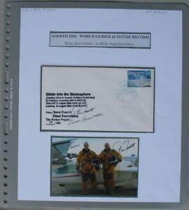 S1995) Steve Fossett + Eneveldson World Glider Altitude Record 2006 Cover 39/206