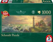SCHMIDT PANORAMIC JIGSAW PUZZLE THE GUIDING LIGHT THOMAS KINKADE 1000 PCS #59477