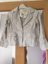 Next Girls Summer Linen Beige Jacket Age 5-6  Years Worn Once