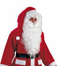 Bart Rauschebart min 50cm lang weiß für Nikolaus & Weihnachtsmann Kostüme