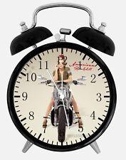"Military Motor Girl Alarm Desk Clock 3.75"" Home or Office Decor Y70 Nice Gift"