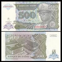 Zaire 500 Nouveaux Zaires, 1994, P-63a, banknote, UNC