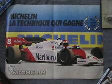 Mclaren / Niki Lauda Formula One racing two sided poster & factory sticker