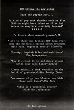 "17/10/92PGN21 EMF : STIGMA ALBUM ADVERT 15X11"""