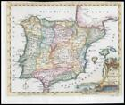 1764 - SPAIN AND PORTUGAL Leon Catalonia Galicia Murcia Thomas Jefferys (KWM5)