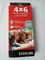 """Lexmark 35 High Yield Color Ink Cartridge Genuine + 140 Sheets 4X6"""" Photo Paper"""
