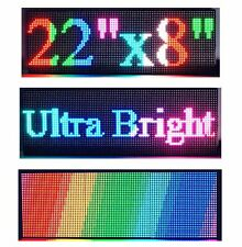 "22""x 8"" P6 Semi Outdoor Full Color LED Sign Programmable Scrolling Message Board"