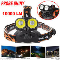 10000Lm Cree 2x T6 LED Rechargeable 18650 Headlamp Headlight Flashlight Torch