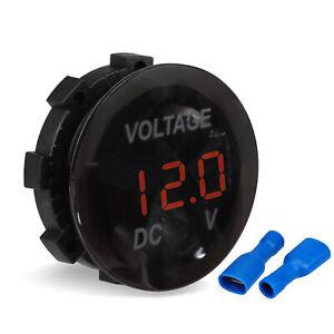 DC12V-24V Car Motorcycle LED Panel Digital Voltage Volt Meter Display Voltmeter