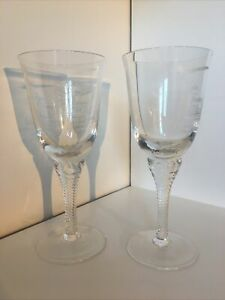 2 Goodwood Concorde 'Flights of Fancy' Inauguration Wine Glasses, 1997