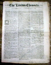 Original 1770 pre Revolutionary War newspaper from year of the BOSTON MASSACRE