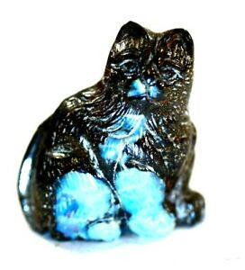 Carved Boulder Opal Kitty Cat Cabinet Figure 97.35carats