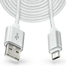 3m Largo Micro USB Cable Enchufe de carga para Samsung Galaxy Note 3 4 5 edge