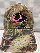 MOSSY OAK Camouflage Pink Adjustable Women's Baseball Ball Cap Hat