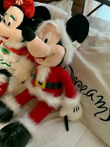 """Mickey Mouse and  Minnie Mouse Christmas Stuffed Animal 26"""" Tall"""