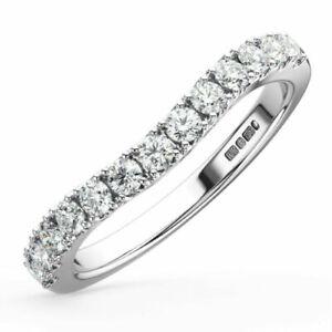0.40 Ct Round Brilliant Cut Diamond Half Eternity Ring in 950 Platinum