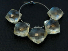 Natural Scapolite Faceted Cushion Briolette Gemstone Beads
