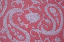 2.5 Yard Hand Made Block Print Fabric Indian Cotton Craft Fabric Pink colored