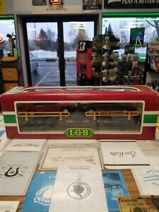 LGB G SCALE TRAIN CAR RAILROAD FREIGHT ROLLING STOCK EXPRESS CAR HAULER 4059