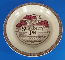 Vintage 1983 Royal China Jeannette STRAWBERRY Recipe Pie Baking Plate