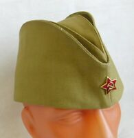 Soviet Russian Army Pilotka Cap Garrison Hat Red Star Badge Size 60 L Khaki New