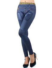 Damen Leggings Jeans Leggins Leggingshose Stretch Einheitsgröße XS-M  T2378