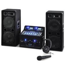 DJ PA ANLAGE CD PLAYER MIXER RACK SYSTEM BOX SET 2000W