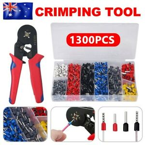 1300 Ferrule Bootlace Crimper Crimping kit 0.25-10mm² Wire Cord End Ratchet Tool