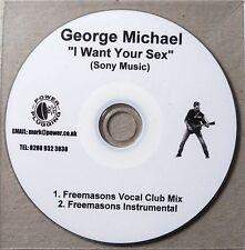 GEORGE MICHAEL * I WANT YOUR SEX - FREEMASONS MIXES * UK 2 TRK PROMO * HTF!