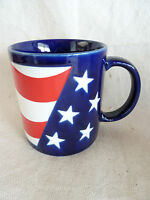 "Otagiri Patriotic Coffee Mug Stars & Stripes  Red White Blue   3 1/2"""