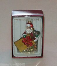 Christopher RADKO GODIVA CHOCOLATE Santa 2013 Christmas Ornament