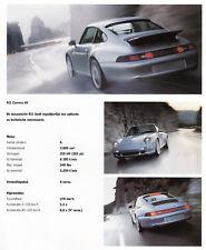 Porsche 911 c2 4 4s Targa s turbo póster promocional brochure Nederland 1996/24