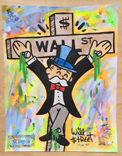 Will $treet original painting / COA Monopoly art banksy faile alec invader pop