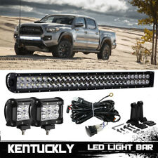 "30"" Dual Row Behind Lower Bumper Grille LED Light Bar For 2016-17 Toyota Tacoma"