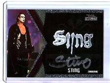 TNA Sting S1 2009 Impact Authentic Face Paint Autograph Relic Card SN 2 of 10