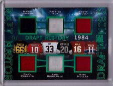 MARIO LEMIEUX PATRICK ROY BRETT HULL + 16/17 Leaf In The Game Used Jersey #d 4/7