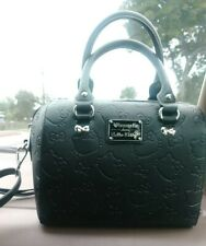 Hello Kitty Embossed Barrel Bag Loungefly.Great Condition.