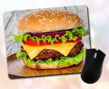 New listing Food ~ Hamburger, Bun, Lettuce, Cheese, Gift, Decor ~ Vivid Mouse Pad
