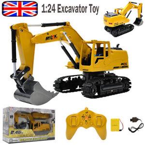 Remote Control Excavator RC Tractor Bulldozer Crawler Truck Toy Digger Car