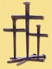 "Three beautiful Crosses ** 14"" CROSS OF NAILS TRIO MANTEL SHELF DECOR ** NIB"